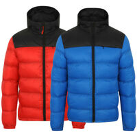 Tokyo Laundry Men's Hakim Hooded Quilted Padded Puffer Bubble Jacket
