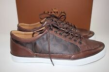 NIB COACH Size 12 Men's Mahogany Leather Signature C PORTER LOW TOP Sneaker
