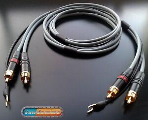 Van Damme Phono Turntable / Tonearm cable standard RCA-RCA version