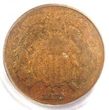 1872 Two Cent Coin 2C - Certified PCGS G4 (Good) - Rare Key Coin - $350 Value!