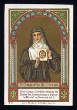antique santino chrome-saint carte S.MARGHERITA ALACOQUE poellath