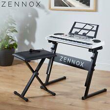 Zennox Electric Keyboard Digital Music Piano 61 Keys Instrument & Microphone NEW