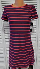 f3c567c245 Women's DKNY Red & Navy Striped Swim Suit Coverup Size XSmall