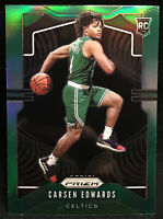 2019-20 Panini Prizm Carsen Edwards Green Parallel Boston Celtics