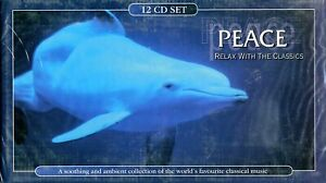 PEACE - Relax with The Classics -12 CDs - Outer Box Damaged, CD's New & Sealed
