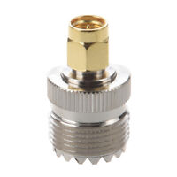 1X(UHF SO-239 SO239 Female to SMA Male Plug Connector Coaxial Adapter R4R7) 4R7)