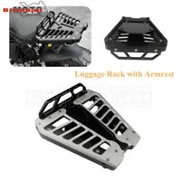 Motorcycle Aluminum Rear Luggage Rack Carrier Seat Backrest For BMW RNINET 14-19