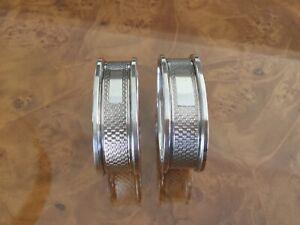 Sterling silver napkin rings Art Deco napkin rings Hallmarked 1957