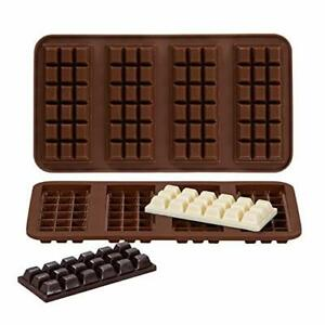 Webake Chocolate Bar Mold Silicone Break-Apart Candy Molds for 1 Ounce Chocolate