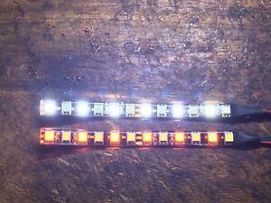 2x MINI WHITE AMBER SWITCHBACK LED STRIPS DAYTIME RUNNING LIGHT & TURN SIGNAL