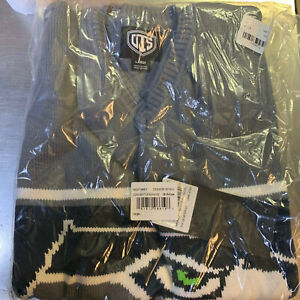 NWT OTS Seattle Seahawks MEN'S LARGE V-NECK Sleeveless Sweater Vest Brand New