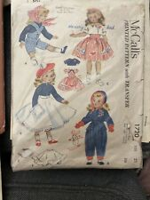 1952 Mccalls Doll Clothes Pattern Sweet Sue Dolls 1720 Size 15 Vtg