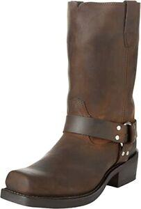 Durango Men's Harness Western Boot Square Toe DB594 Brown Size 8.5 D