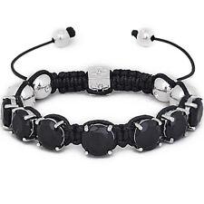 Iced Out Unisex Bracelet - PRONG SHAMBALLA noir