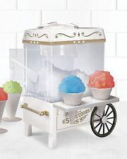 Nostalgia Snow Cone Maker Ice Shaver Machine Cart Electric Slushie Icee Shaver