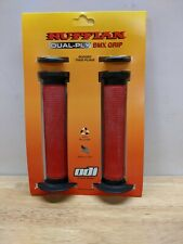 ODI Ruffian BMX Grip Red and Black NOS MidSchool Vintage Powerlite Haro Auburn