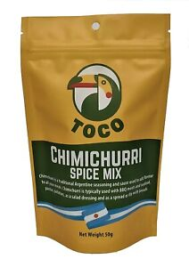 Toco Chimichurri sauce & Dry spice mixes   Produced in Argentina & Australia