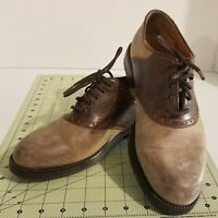 Johnston & Murphy Men's 8M Saddle Shoe Oxford Brown Italy Made 20-3532-pre own