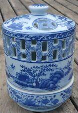 -Veilleuse Brûle-Parfum Chinois Perfume Lamp Porcelaine