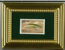 LEFTY'S DECEIVER FLY FISH LURE - A GLASS FRAMED COLLECTIBLE POSTAGE MASTERPIECE!