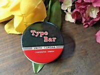 VTG TYPE BAR-SMITH CORONA Typewriter Ribbon Tin - w/ NOS RIBBON! NICE!