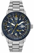Citizen BJ7006-56L Eco-Drive Blue Dial Nighthawk Promaster Stainless Steel Watch