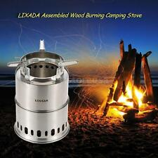 LIXADA Portable Wood Burning Camping Stove Furnace Burner Assembled Stove F9B5