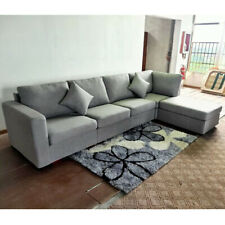 Home Fabric 1/4/5 Seater Armrest Sofa Cushions Sofa Bed Corner Couch & Footstool