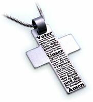 Anhänger Kreuz Edelstahl Gebet Vater Unser Adamo made in Germany Neu