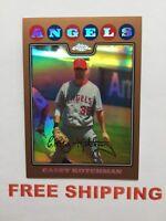 2008 Topps Chrome Refractor #D /599 card #174 Casey Kotchman MLB Angels