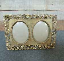 Vintage Double Oval Easel Back Picture Frame