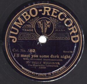 """10"""" 78 Williams, Billy Mr. """"I'll Meet You"""" / Tickle Me, Timothy JUMBO-RECORD A62"""