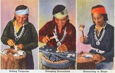 Photo 1935 Native American Indian Silvermiths Making Jewelery