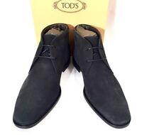 "TOD'S ""POLACCO GEORGE"" Schuhe Stiefeletten Shoes Boots blau blue Leder NEU BOX!"