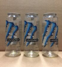 Lot Of 3 Monster Energy Hydro Water Bottle Can Clear EMPTY Crafts Upcycling