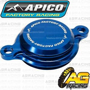 Apico Blue Oil Filter Cover Cap For Yamaha YZ 250F 2014-2020 YZ 450F 2010-2020