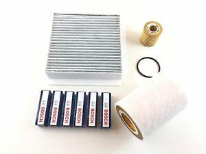 Filter Set + 6 X Bosch Sparkplug Smart Cabriolet City-Coupe 450 0.6