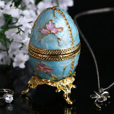 Decorate Collectible Russian Faberge Egg Trinket Box Vintage Figurine Craft Gift