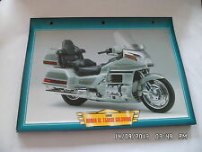 CARTE FICHE MOTO 1999 HONDA GL 1500 SE GOLDWING