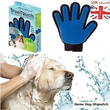 TRUE TOUCH DE-SHEDDING GLOVE GENTLE & EFFICIENT PET DOG CAT MASSAGE UK SELLER