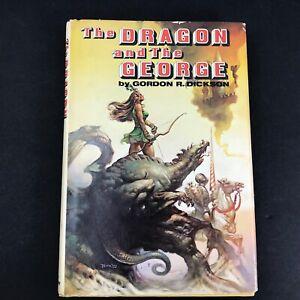 THE DRAGON AND THE GEORGE Gordon R. Dickson 1976 Hardback Book 1st Edition BCE