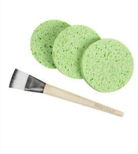 Ecotools Facial Mask Mates Face Applicator Brush And Mask Remover Sponges Set
