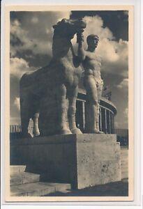 Berlin Reichssportfeld Rosseführer am Marathontor Sonderstempel amtl. Postkarte