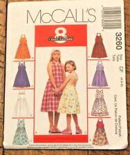 McCall's 3260 Girls Sun Dress Halter sewing pattern 4-5-6 NEW UNCUT 8 styles