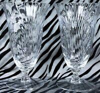 2 Cambridge Caprice-Clear Stem 300, Optic 12oz Iced Tea Glasses 1936-1958