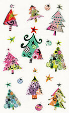 Mrs. Grossman's Turnowsky Stickers - Christmas Trees - Modern Design - 2 Strips