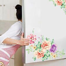 1PC Flower Wall Sticker Bathroom Toilet Kitchen Fridge Decals Removable Decor
