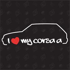 Amo mio Opel Corsa A - Tuning Adesivo, Decalcomania, Auto Ventilatore adesivo