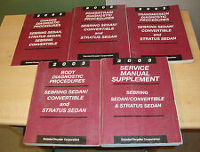 2003 Chrysler Sebring Dodge Stratus Shop Service Manual + Procedures 5 Book Set
