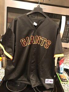 Majestic Black San Francisco Giants Barry Bonds Size 2XL MLB Baseball Jersey